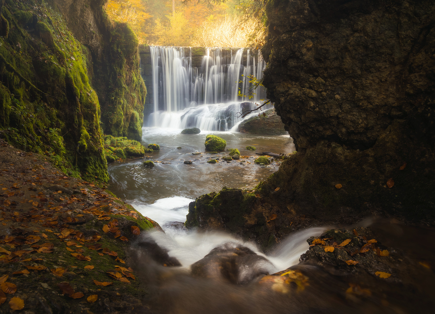 Golden Hour Waterfall by Christian Möhrle