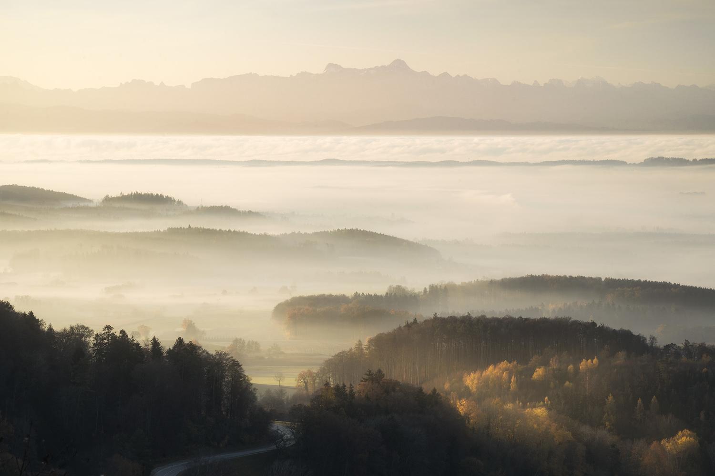 Foggy Landscape by Christian Möhrle