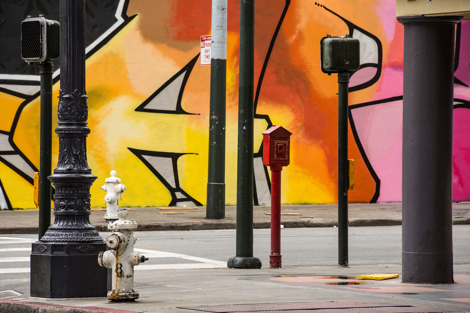 Poles and Hydrants - San Francisco, California by Mike Weiser