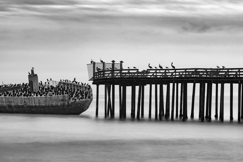 SS Palo Alto Concrete Ship - Seacliff Beach, Aptos, California by Mike Weiser