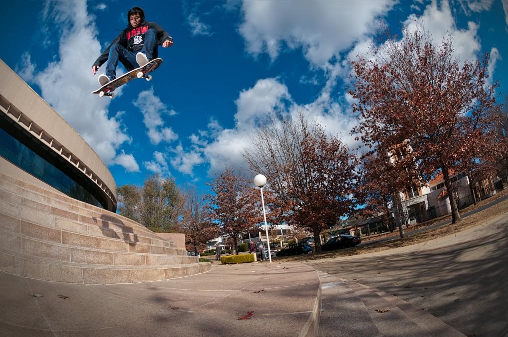 Matt Cheney - kickflip by Nathan Mollison