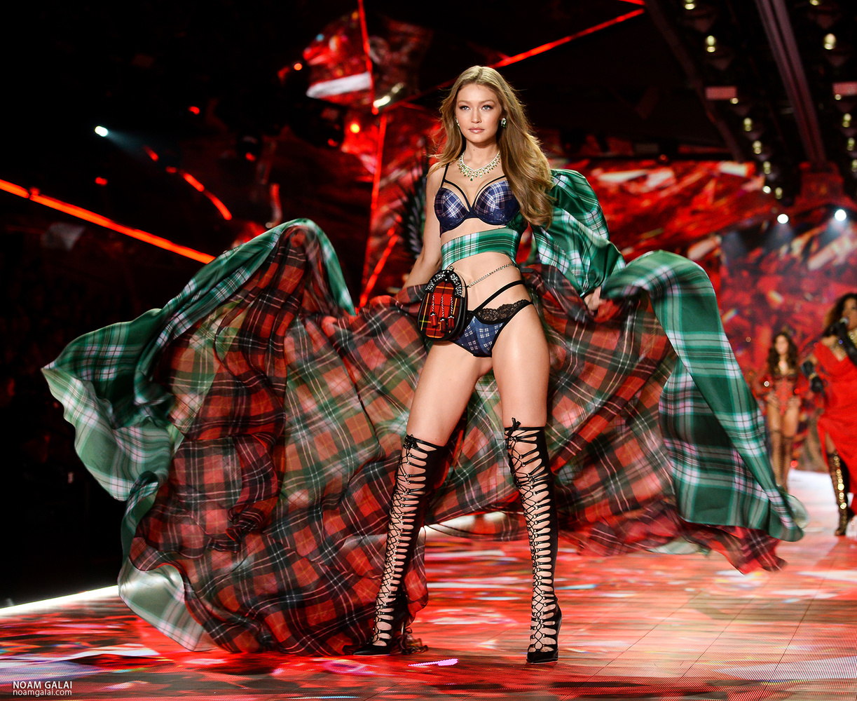Gigi Hadid at the Victoria Secret show by Noam Galai