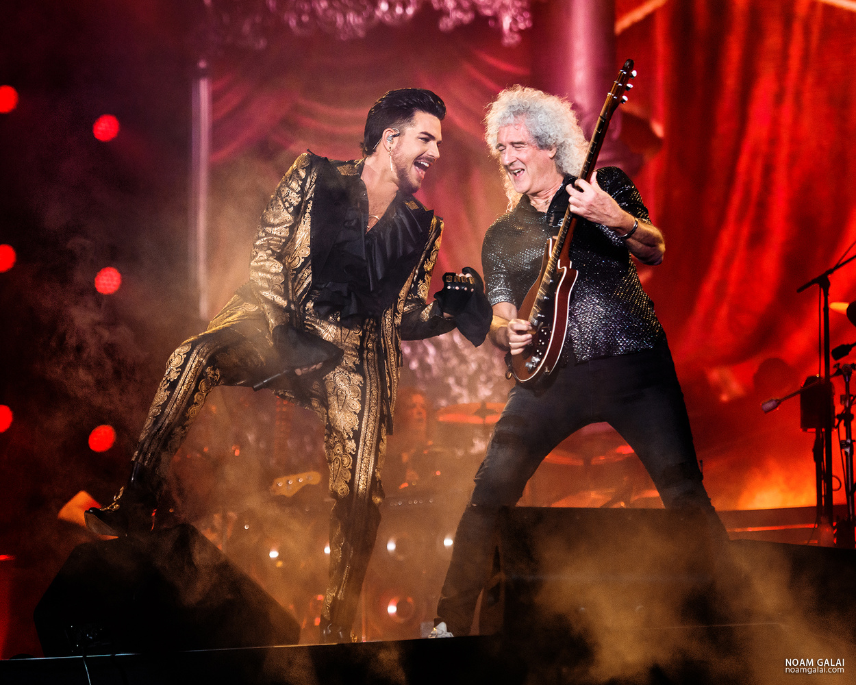 Queen: Brian May and Adam Lambert by Noam Galai