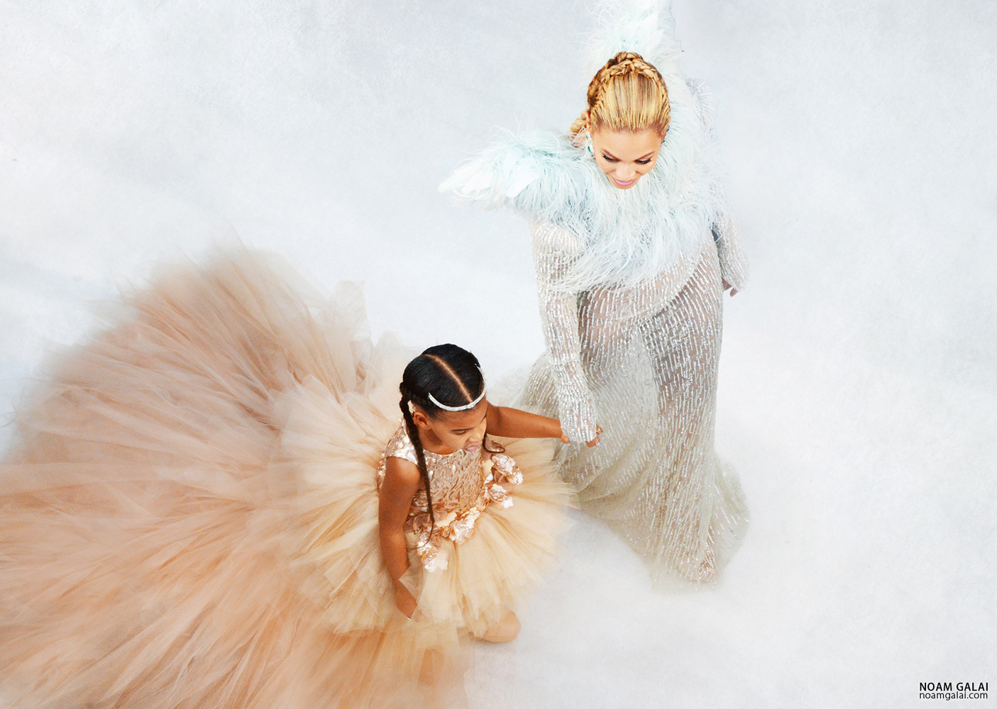 Beyonce and Blue Ivy by Noam Galai
