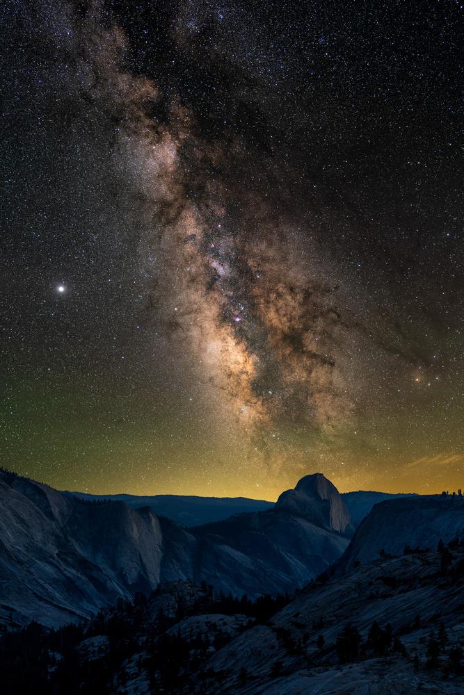 Milky Way over Half Dome by Karthik Subramaniam