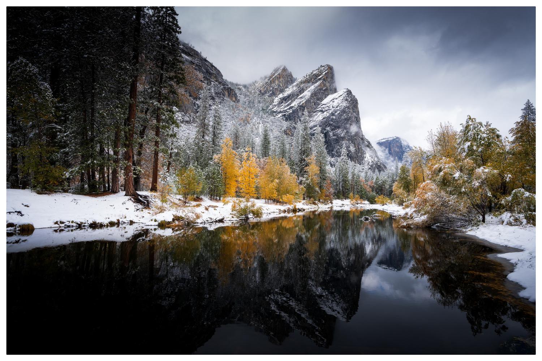 The Three Brothers, Yosemite by Karthik Subramaniam