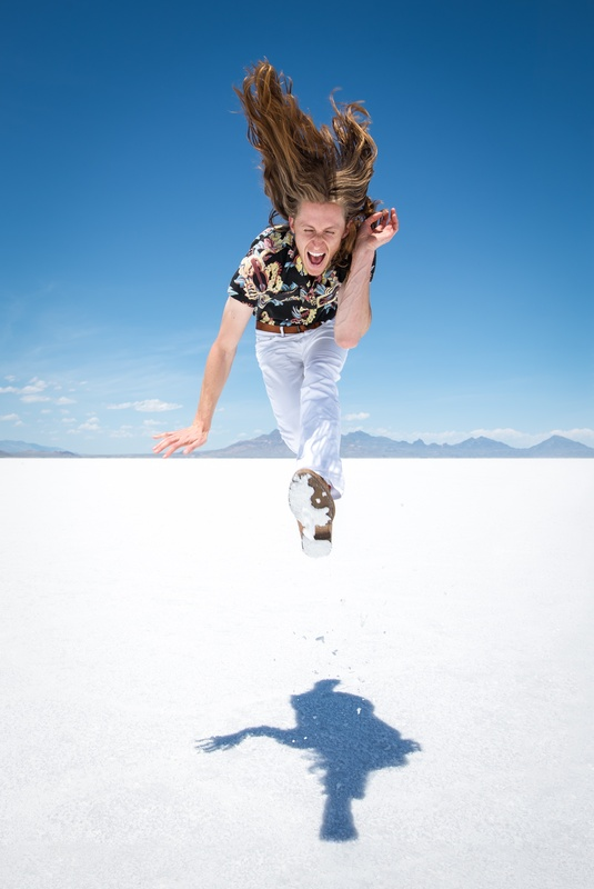 Scott Vance of The New Electric Sound in Utah's Salt Flats 4 by Adam Ottke
