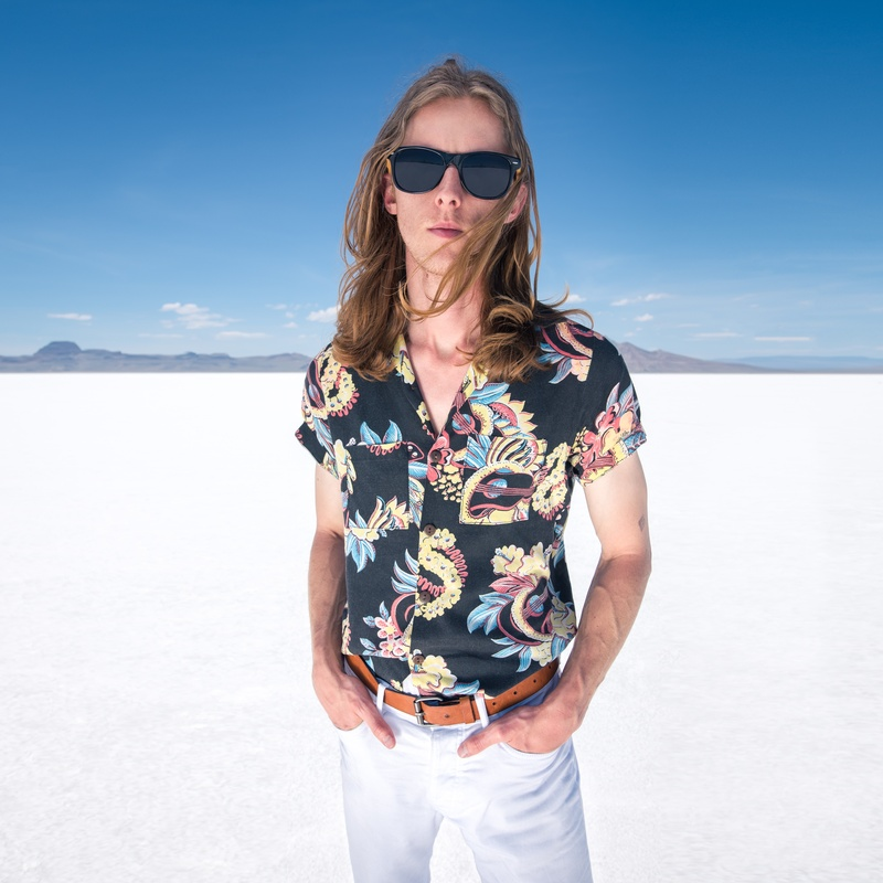 Scott Vance of The New Electric Sound in Utah's Salt Flats 1 by Adam Ottke