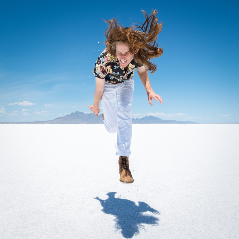 Scott Vance of The New Electric Sound in Utah's Salt Flats 3 by Adam Ottke