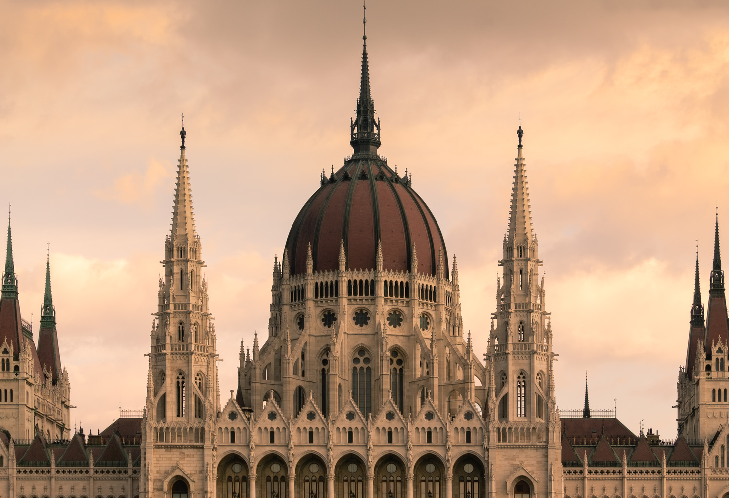 Budapest Parliament at dawn by Luca Campioni
