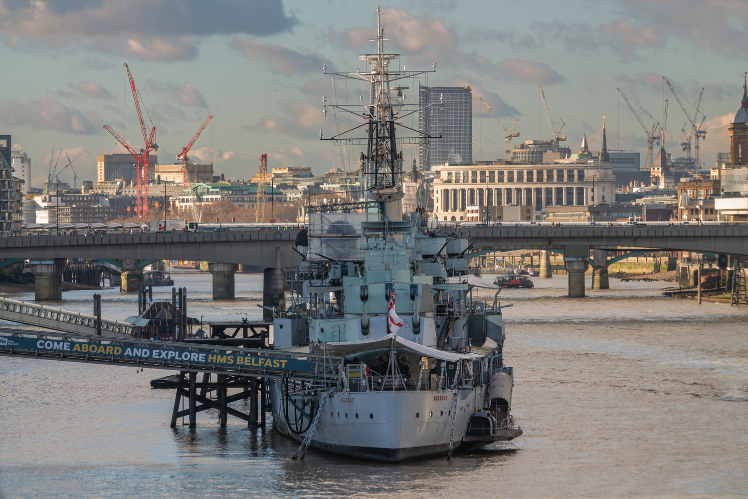 HMS Belfast Warship by Luca Campioni