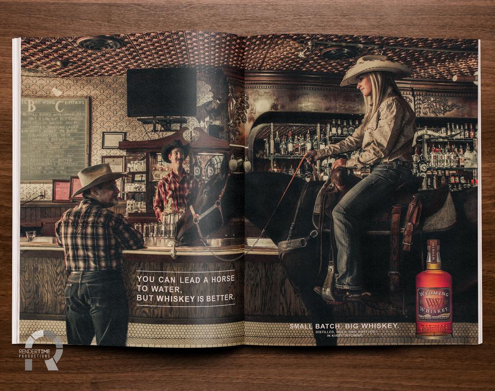 Wyoming Whiskey Mockup by Raymond Craig