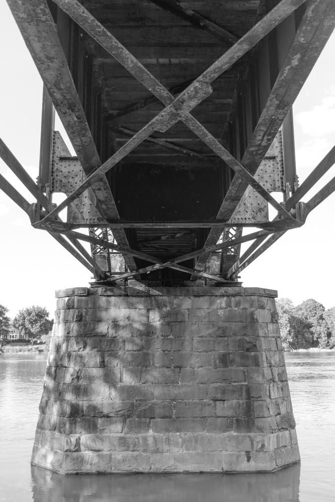 Railway Draw Bridge Underside by Steve Gaines