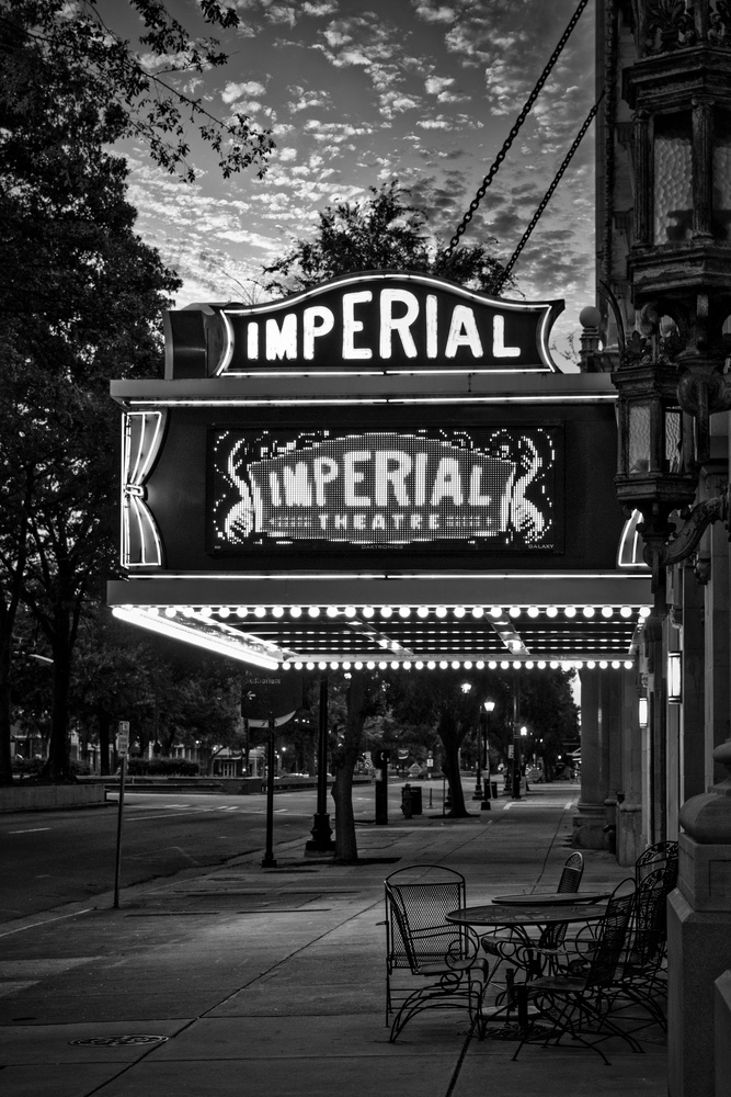 Imperial Theatre in B&W by Steve Gaines