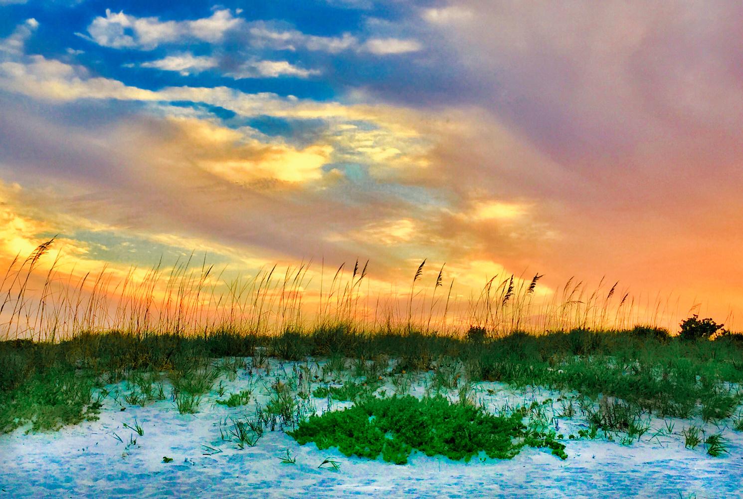 Sunset Beach by Steve Gaines