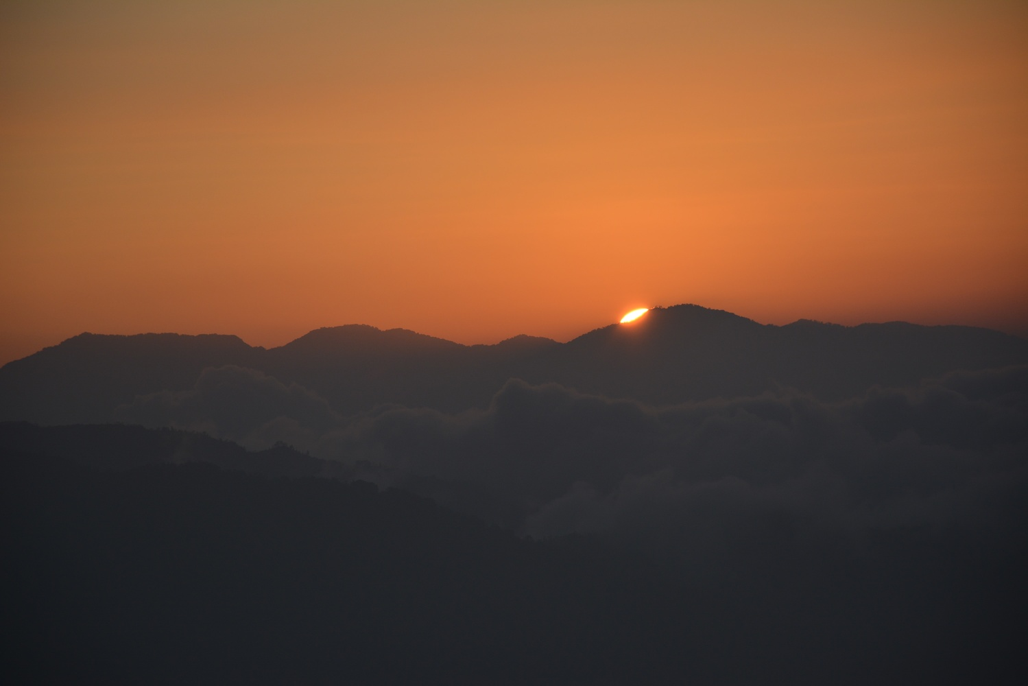 Beautiful Sunset Over Mountains by Ritesh Dixit
