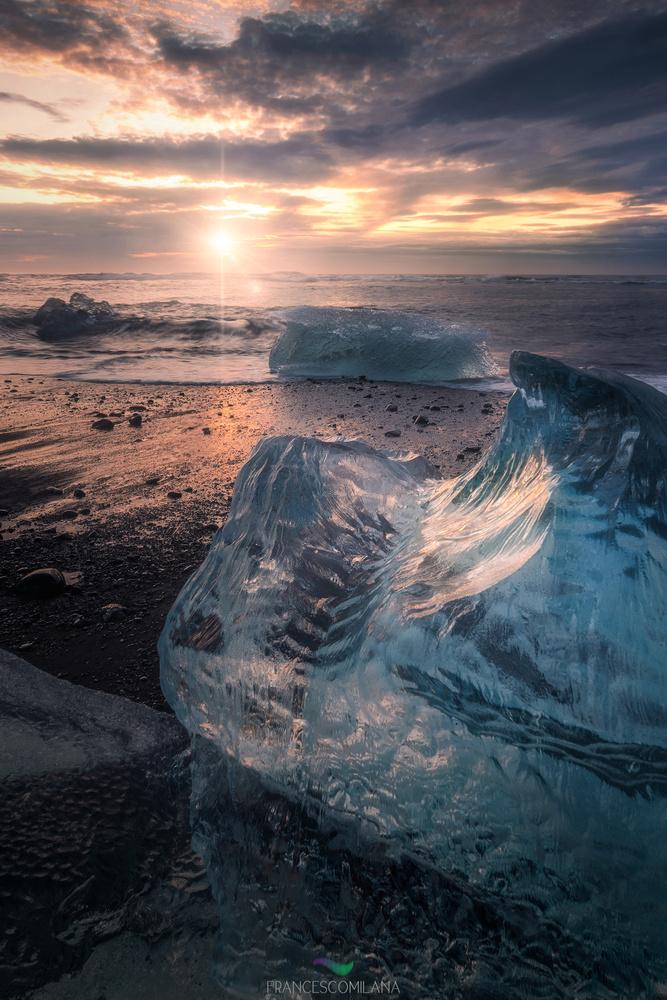 Ice Sunrays by Francesco Milana