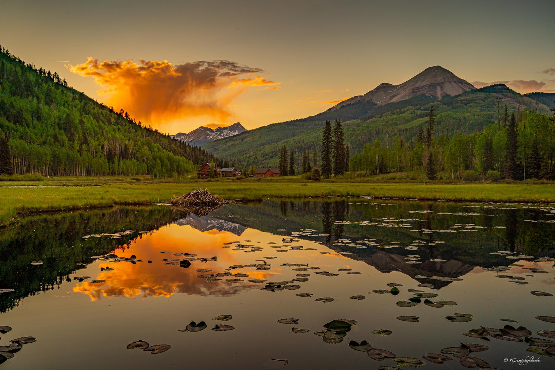 Engineer Mountain Sunset by John Fitzpatrick