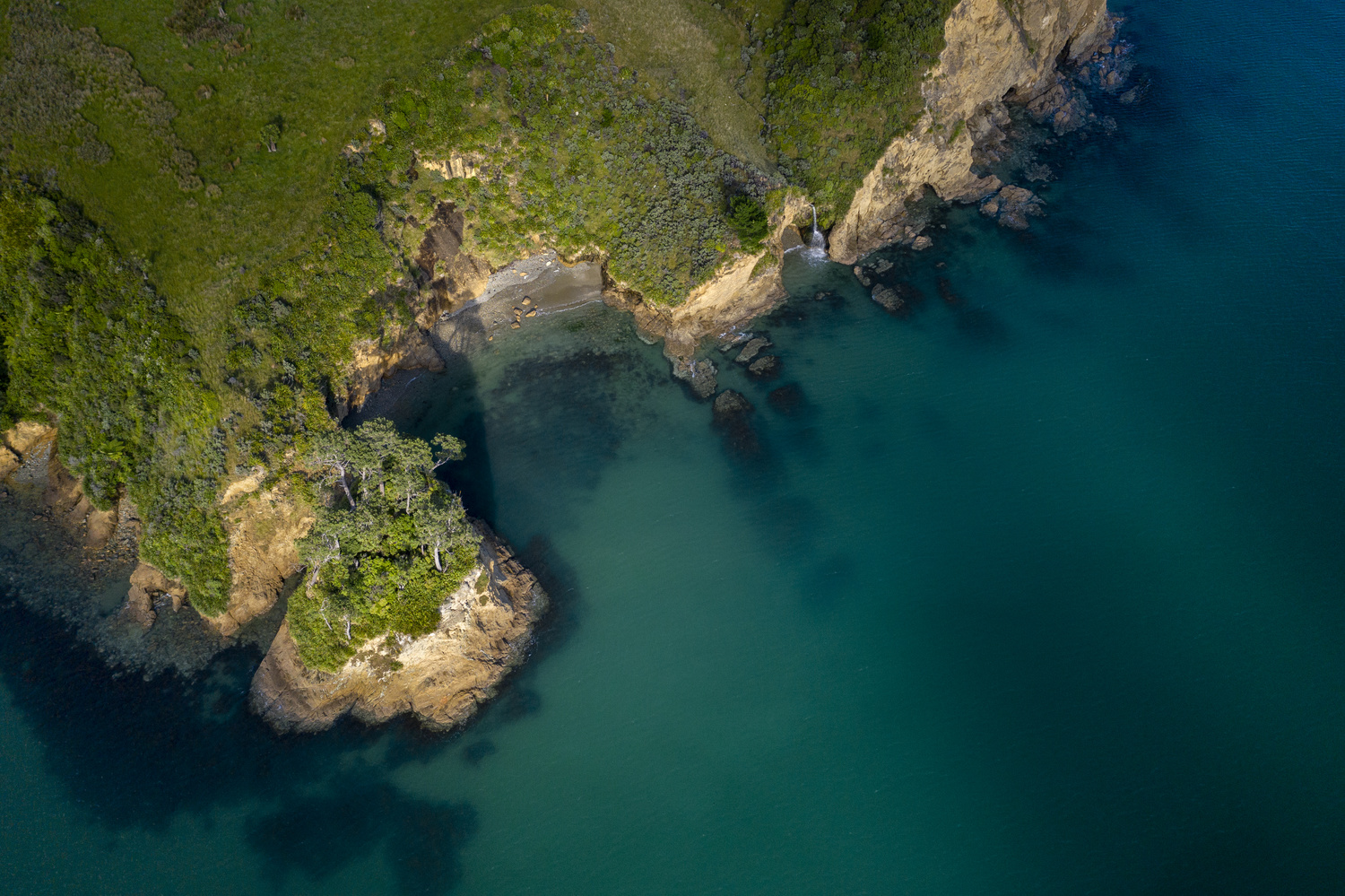 Aerial landscape in the Pelorus Sound of the Marlborough Sounds by Visualize The World