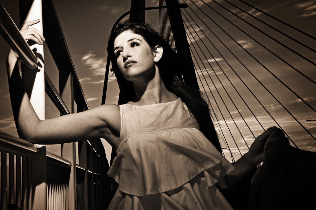 Fashion on a bridge by Lee Morris