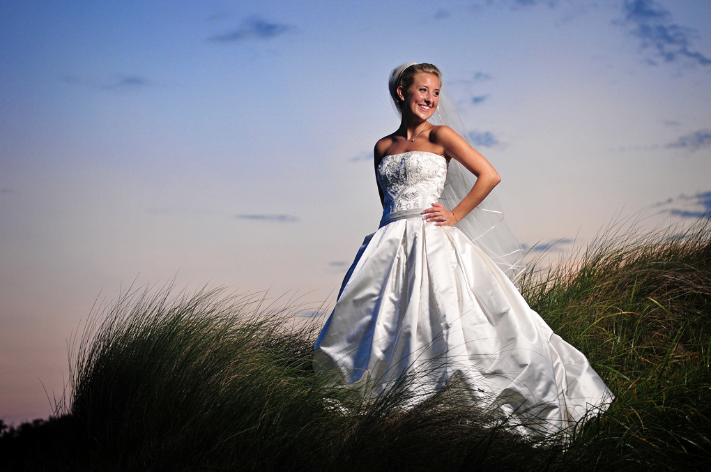 Bridal portrait at sunset by Lee Morris
