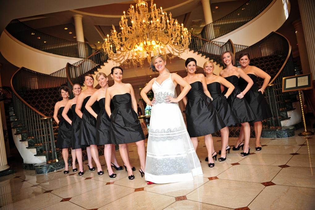 bridal party by Lee Morris