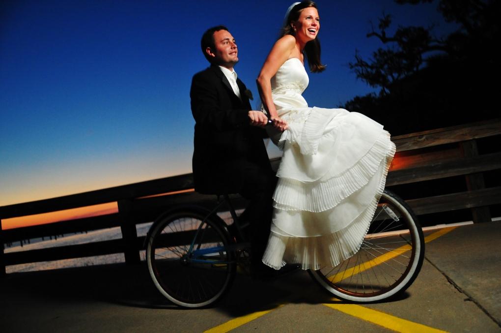Wedding getaway by Lee Morris