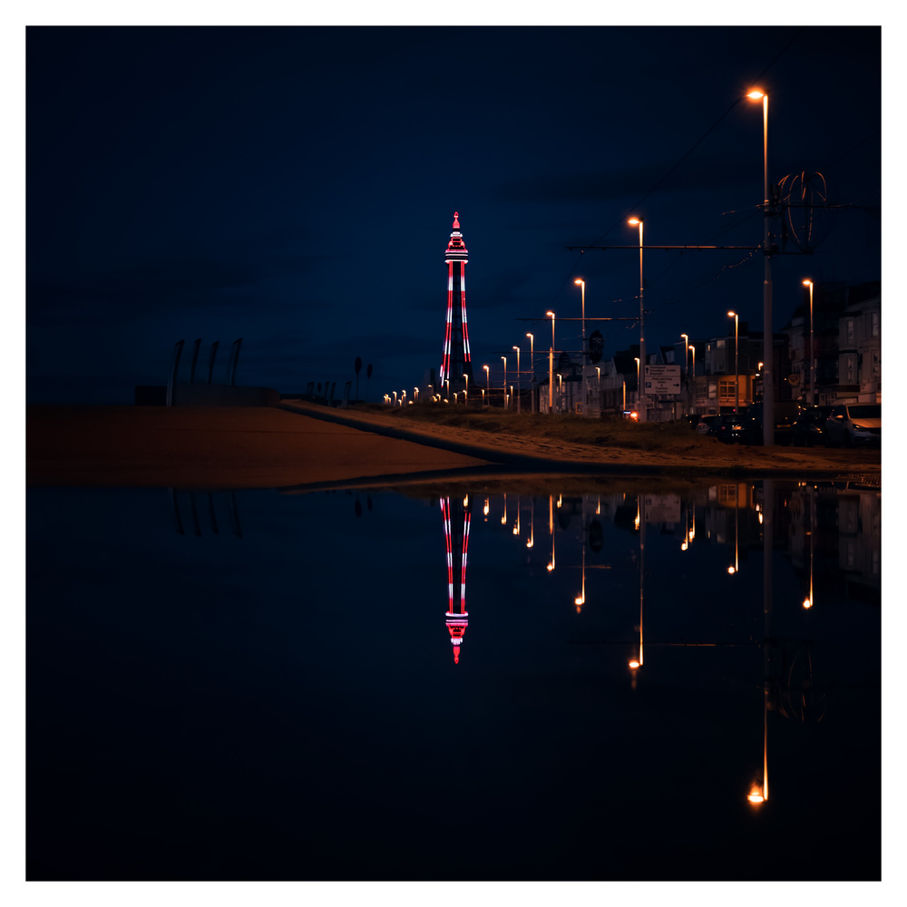 The Tower at Night by Mike Martin