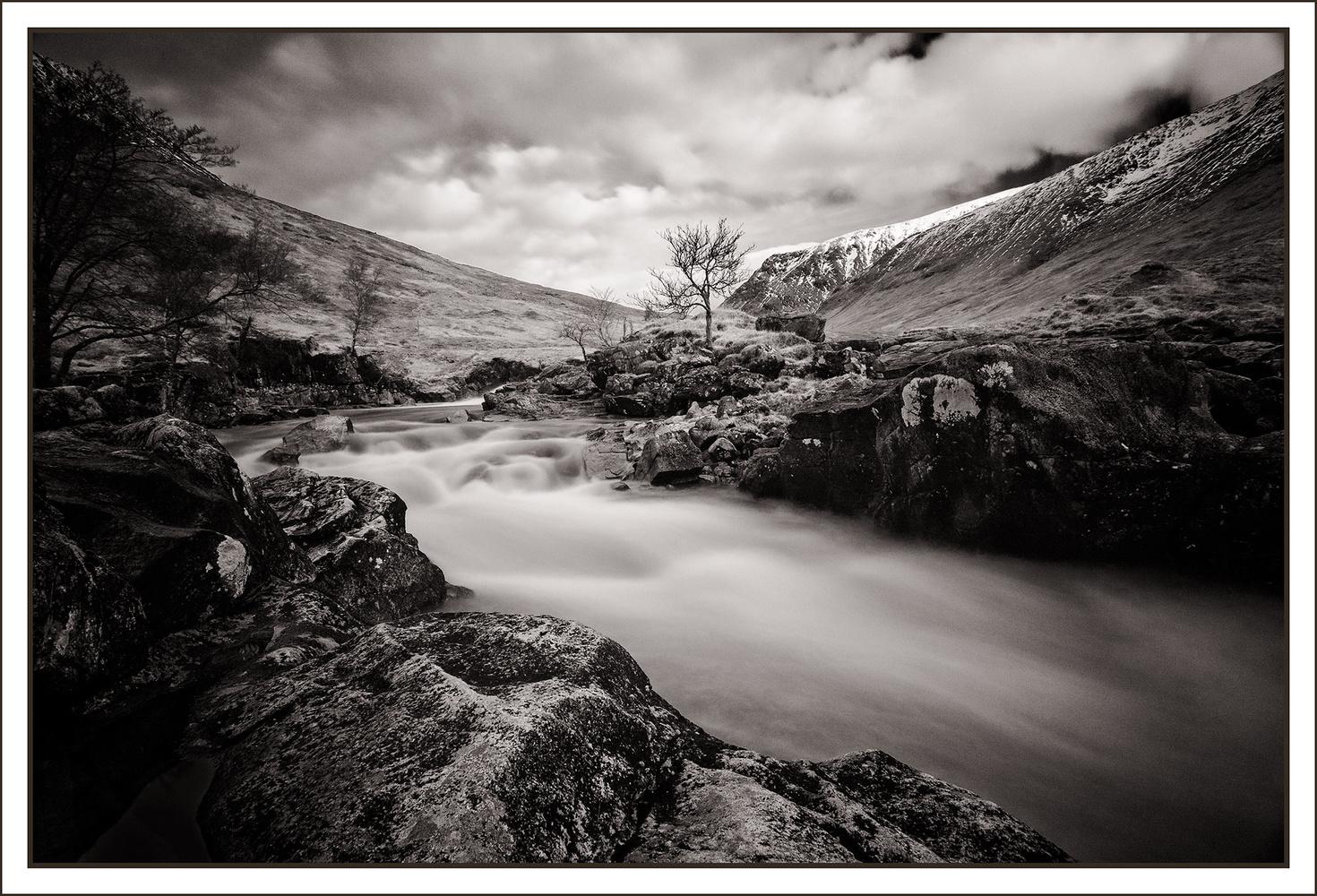 Rapids at Glen Etive by Anthony Hepworth