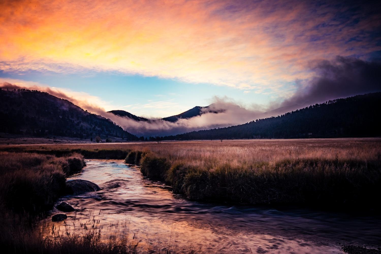 Early Morning In Estes Park by Preston Moochnek
