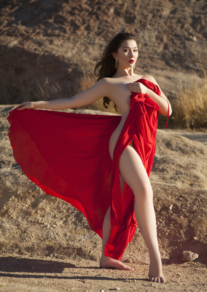 I'd have a gown of reddest red  As fine as you could see by Nick Myshkin