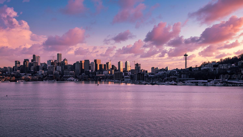 Sunset on Seattle by Joe Burdick