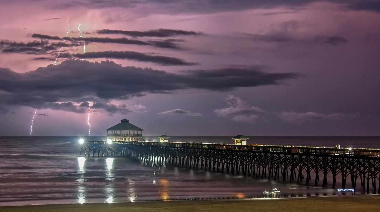 Folly Beach Storm by Dave Rogoza