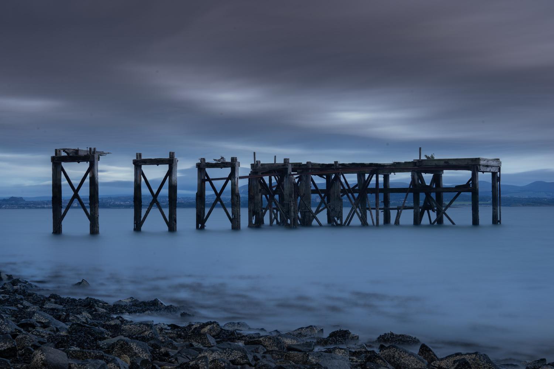 Old Pier at Aberdour by Kevin Skeldon