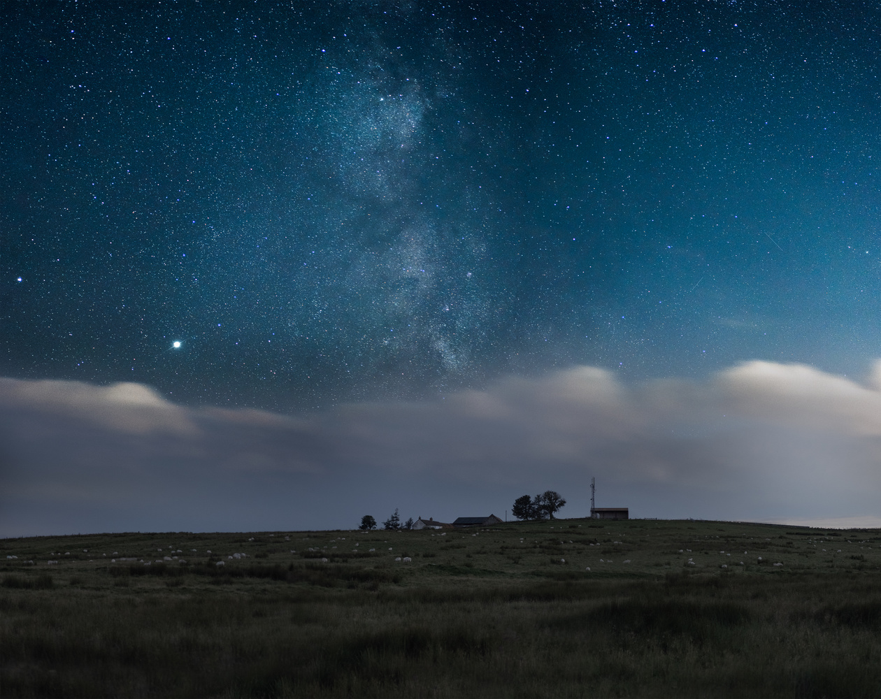 Milky Way rising above a scottish farm by Kevin Skeldon