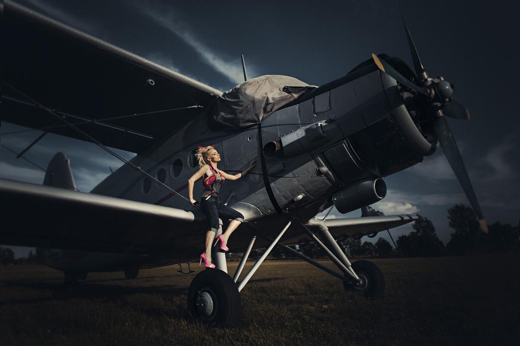 On a plane by Damian Piórko