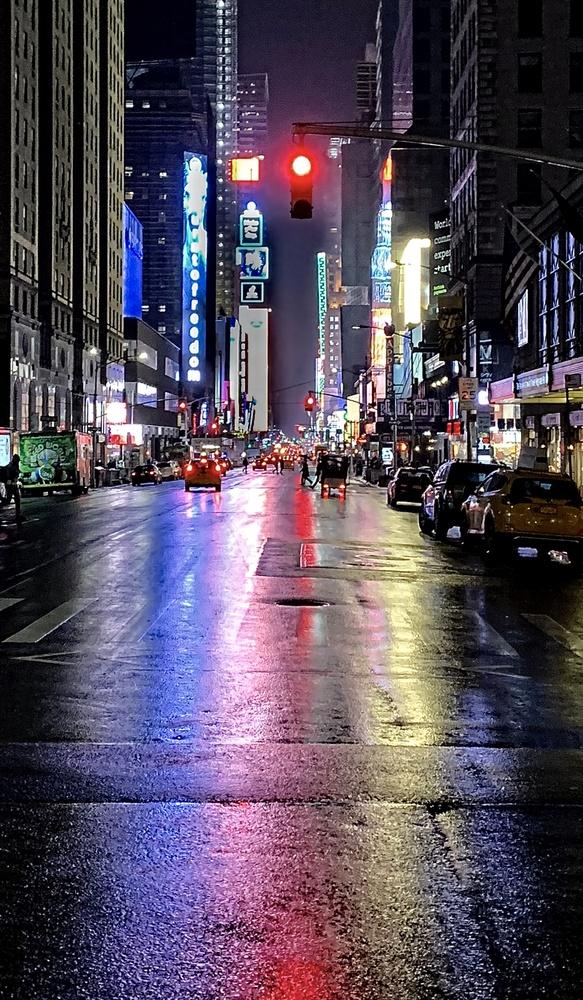 Rainy Night in Manhattan by James Zuffoletto