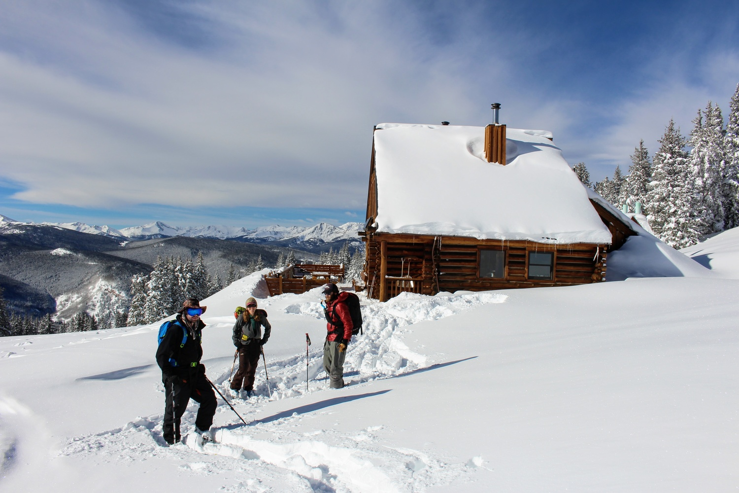Skinning out from the Hut by Rich Morgan