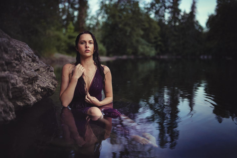 Marie in the river by Dave Nunez-Delgado
