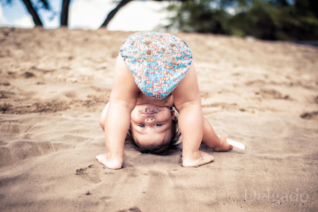 Beach Yoga by Dave Nunez-Delgado