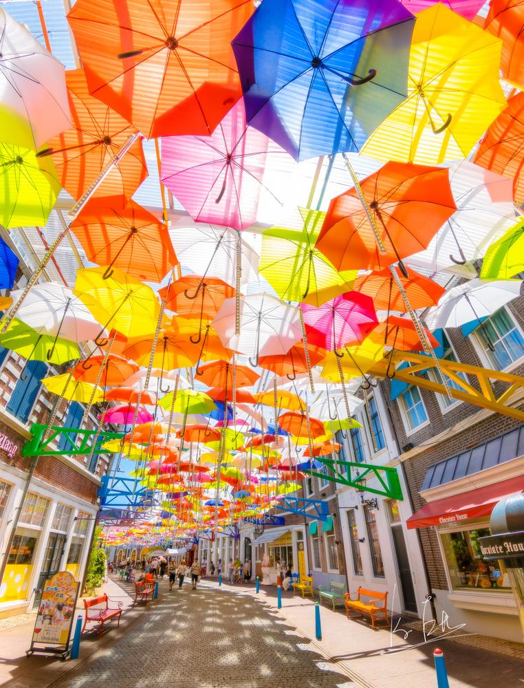 Umbrella Street by Ko Eto