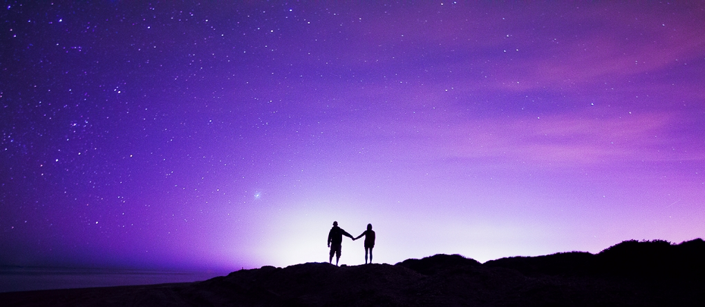 South Padre Island Starry Couple by Rebecca Britt