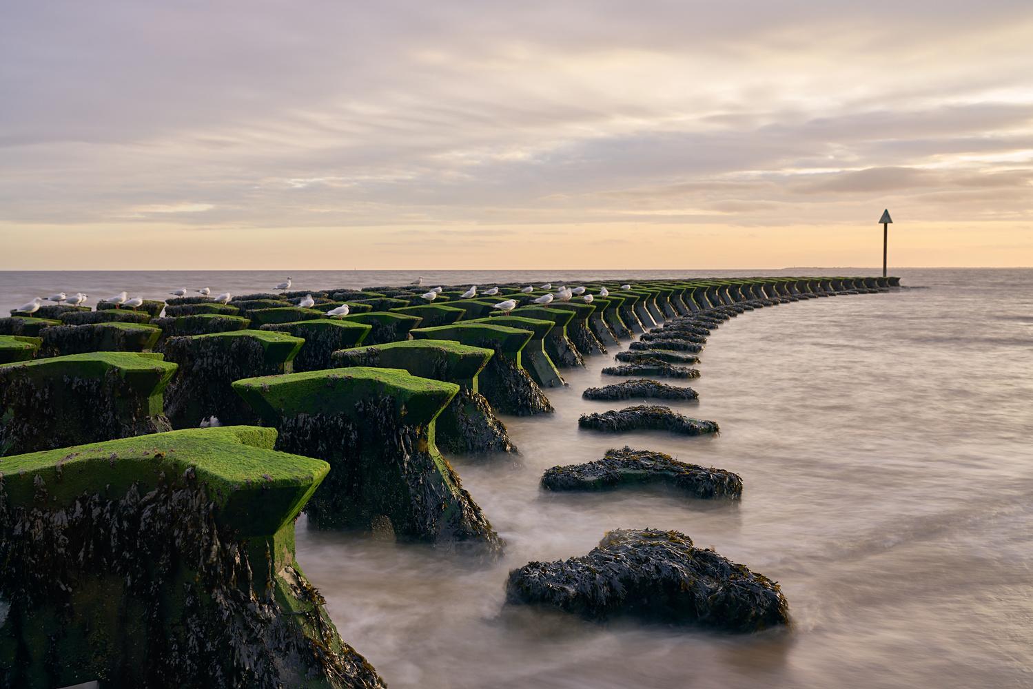 Felixstowe Sea Defences by Ben Beer