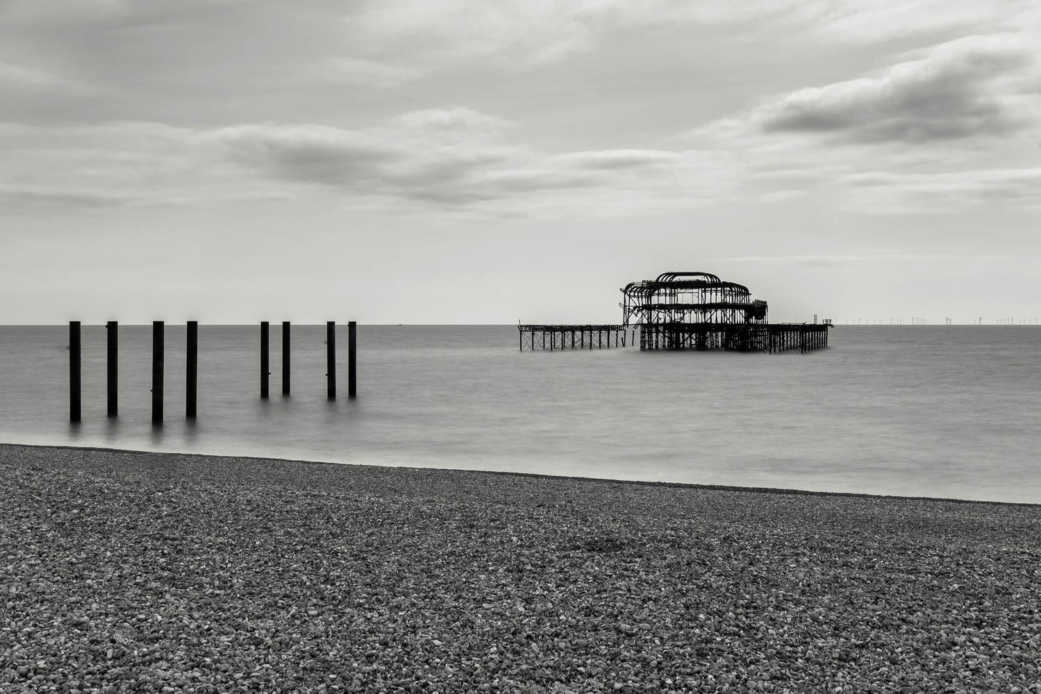 Brighton Burnt Pier by Ben Beer