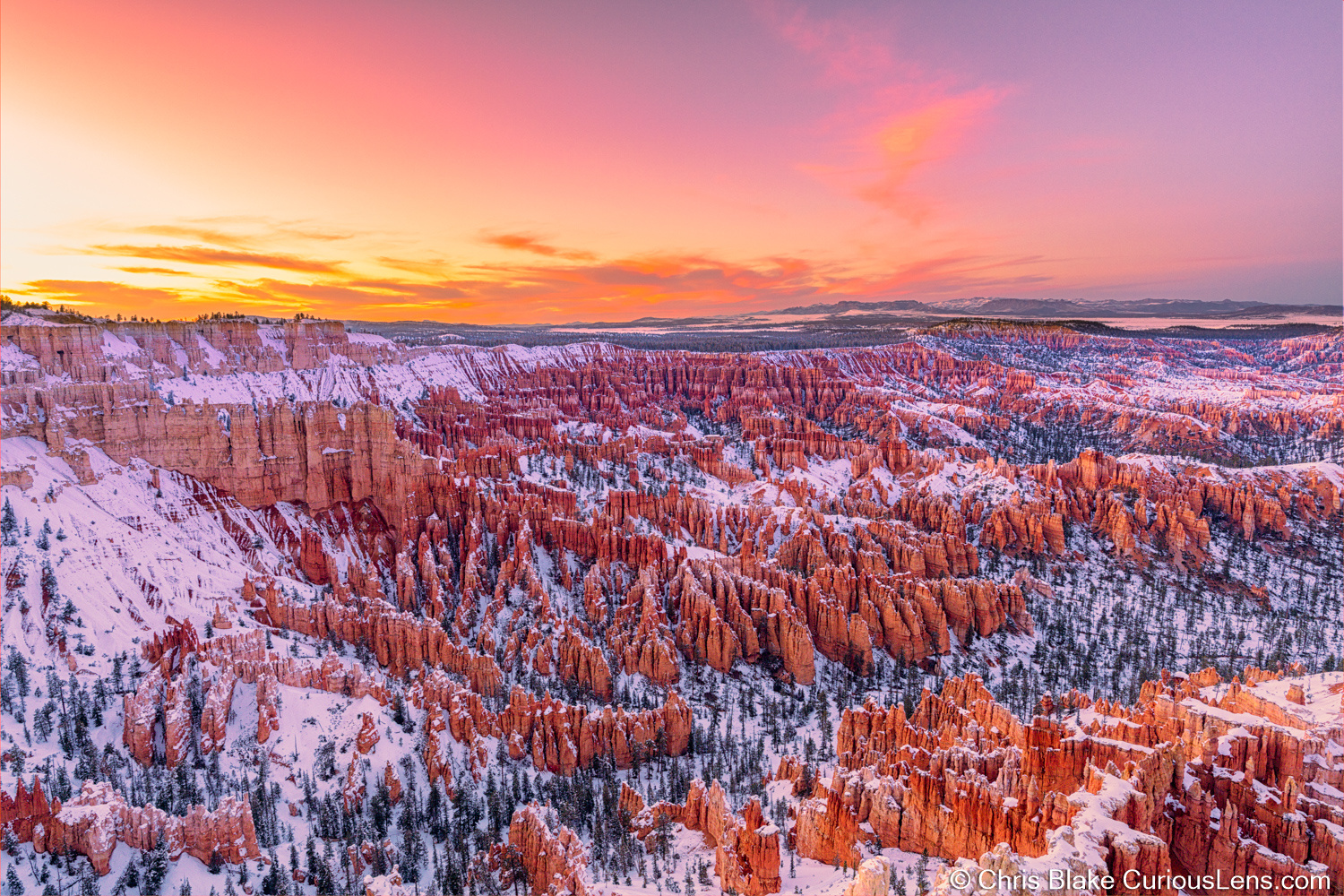 Hoodoos at Sunset - Bryce Canyon by Christopher Blake