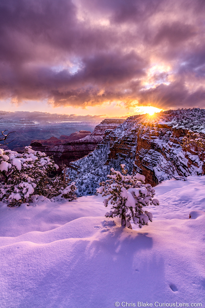 Winter Storm Grand Canyon by Christopher Blake