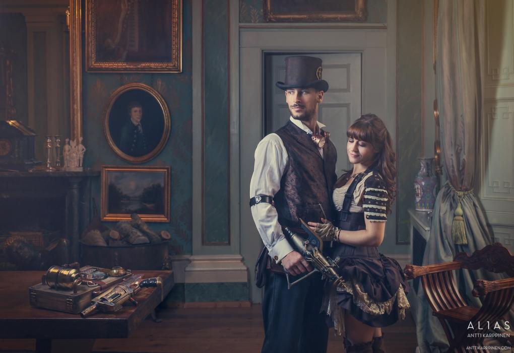 Steampunk couple by antti karppinen
