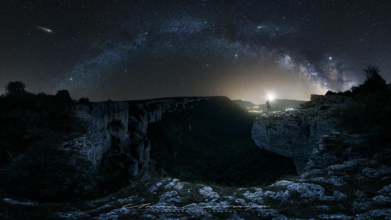 Galactic arc by Unai Larraya