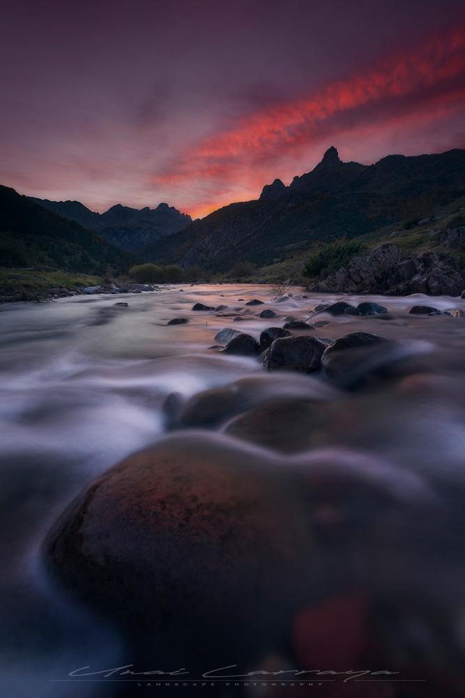 Pyrenees river by Unai Larraya