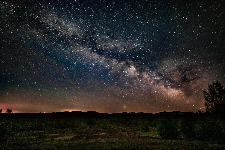 Milky Way from Loon Lake NY by STEVE EATON